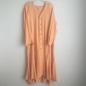 Free People Dresses - Free People Matilda Dress in Peach Oversized Linen